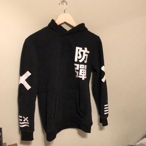 Other - Black hoodie with print